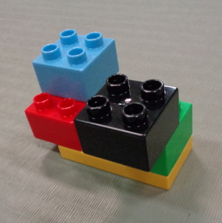 some lego blocks fitting together