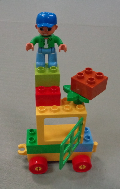 a very cobbled-together, odd-looking lego construct