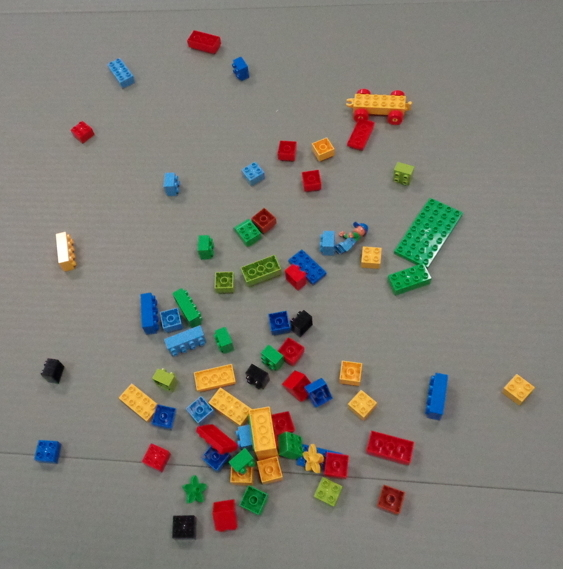 random lego blocks strewn about