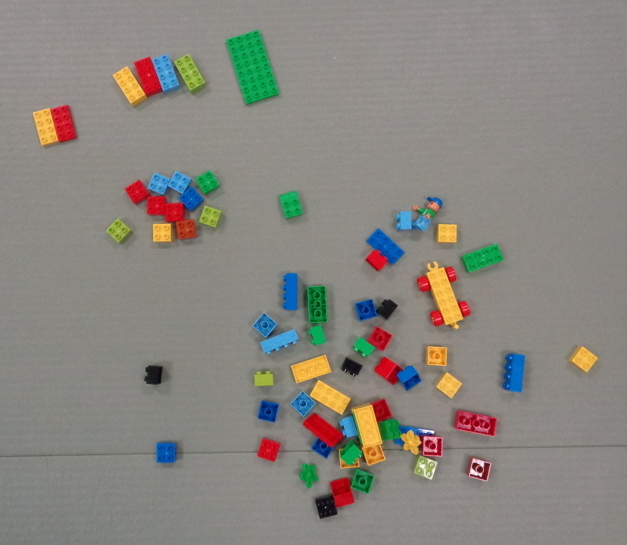 random lego blocks, with a few sorted by type